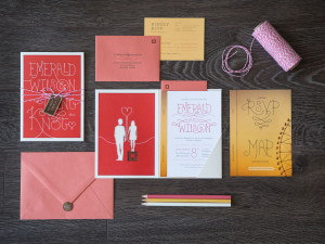 W&E Wedding Invitation
